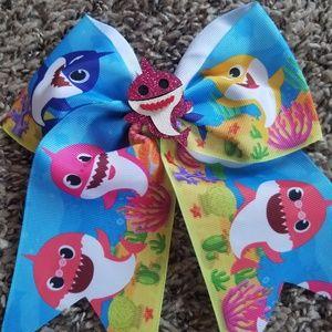 Pink Baby Shark Bow